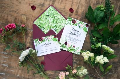 marsala greenery black invitation, greenery wedding greenery invite boho invites bhemin invitation marsala envelope tropical invitation pantone 2017 (8)
